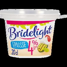 Spécialité laitière à base crème légère UHT 4% de MG BRIDELIGHT, pot de 20cl
