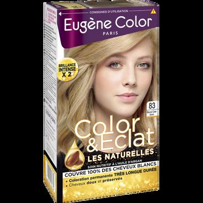 """Coloration permanente """"Les Naturelles"""" EUGENE COLOR, blond clair dorén°83"""