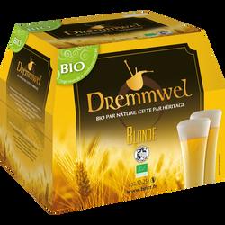 Bière blonde bio DREMMMWELL, 5°, pack de 12x25cl