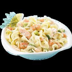 Salade de tagliatelles aux 2 saumons