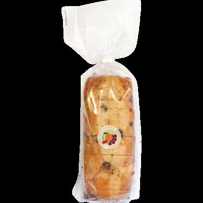 Cake brioche pur beurre tranche aux fruits, 400g