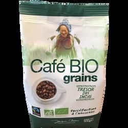 Café équitable en grains bio TRESOR DES INCAS, 500g
