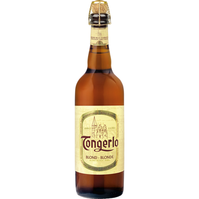 Bière belge blonde TONGERLO 6°, bouteille de 75cl