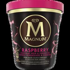 Crème glacée raspberry chocolat MAGNUM BEN & JERRY'S, Pot de 440ml