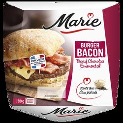 Burger charolais bacon emmental sauce 2 poivres MARIE, 180g