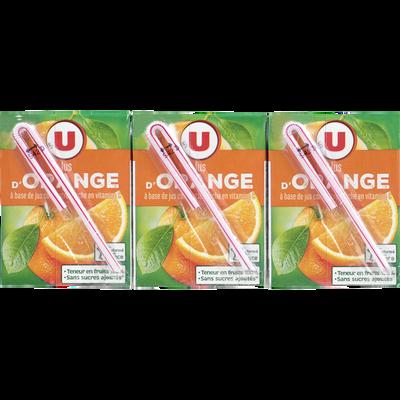 Jus à base de concentré d'orange U, 6 briques de 20cl