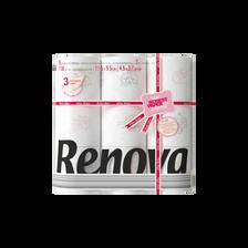 Papier toilette 3 plis design limited editions 3 plis RENOVA, 9 rouleaux