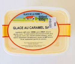 Glace au caramel salé, GLACE DE LA FERME, bac 500ml