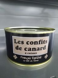 confits de canards 4/5 cuisses 1kg250
