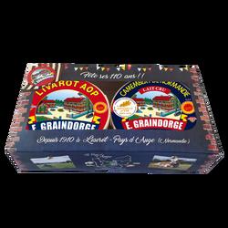 Plateau duo d-day camembert AOP lait cru 20% + livarot AOP lait pasteurisé 22% GRAINDORGE, 500g