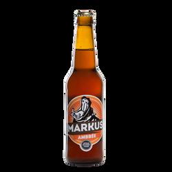Bière ambrée MARKUS 5.8°, bouteille de 33cl