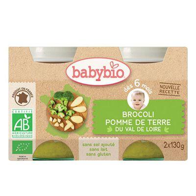 BABYBIO BROCOLI POMME T 2X130G
