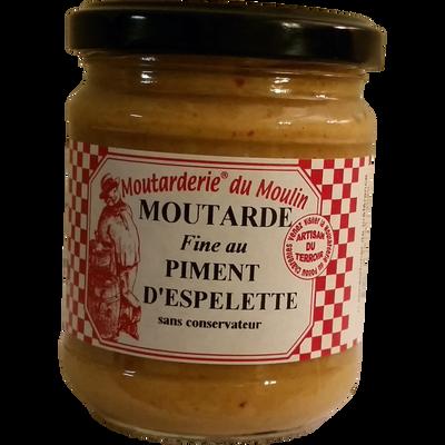 Moutarde fine au piment d'espelette LA MOUTARDERIE DU MOULIN, 200g