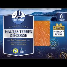 Petit Navire Saumon Atlantique, Élevé En Ecosse, Fumé, , 6 Mini Tranches, 180g