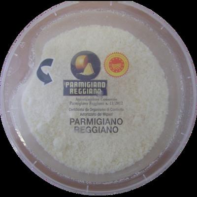 Parmigiano Reggiano AOP rapé au lait cru, 30% de MG, pot de 100g