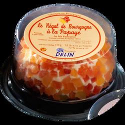 Régal de Bourgogne papaye, lait pasteurisé, 32%Mat.Gr, 110g
