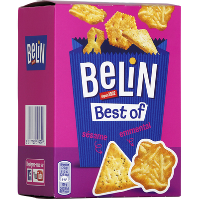 Assortiment de crackers apéritif Best Of BELIN, 90g