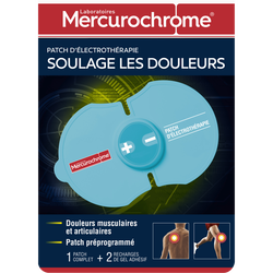 MERCUROCHROME PATCH D?ELECTROTHERAPIE, 1 unité + 3 recharges + 1 pile