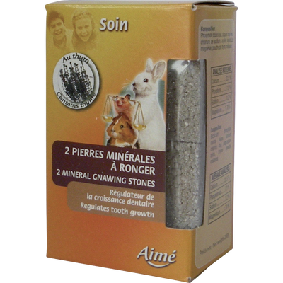 Bloc mineral rongeurs, AIME, 200g