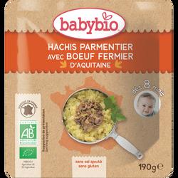 Assiette hachis parmentier boeuf BABYBIO, dès 8 mois, 190g