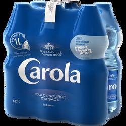 Eau de source CAROLA bleue, 6 bouteilles de 1 litre