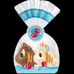Chocolat au lait et chocolat blanc décoré, Splish et splash  ABTEY, 100g
