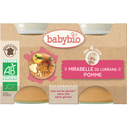 Pot mirabelle pomme BABYBIO, 2x130g