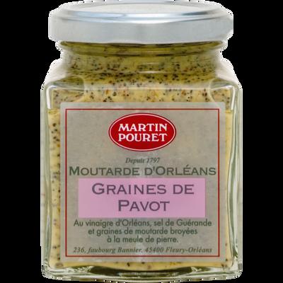 Moutarde d'Orléans aux graines de pavot et aux graines du Val de LoireMARTIN POURET, pot de 200g