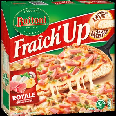 Pizza fraich up royale jambon, fromage, champignons BUITONI, 600g