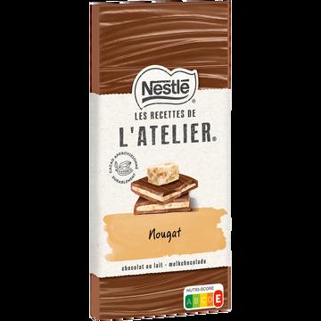 Nestlé Chocolat Nougat Les Recettes De L'atelier Nestle 140g