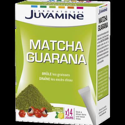 JUVAMINE MATCHA GUARANA, 14 sticks