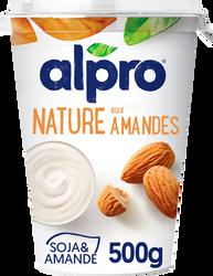 Dessert végétal soja nature aux amandes ALPRO, 500g