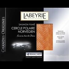 Labeyrie Saumon Fumé Grande Origines Norvège , 4 Tranches Soit 130g