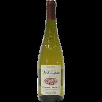 """Vin blanc AOC Côteaux du Layon """"DOMAINE DES SAUNERETTES"""", bouteille de75cl"""