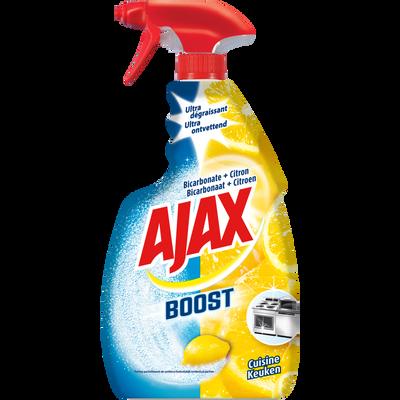 Spray boost nettoyant vitres à la bicarbonate et au citron AJAX, sprayde 750ml