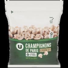 Champignons de Paris émincés U, sachet de  1kg