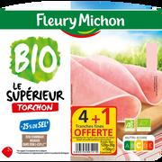 Fleury Michon Jbn Sup.bio Torchon S.c -25% Sel Fleury Michon 4tr+ 1 Tranche Offerte150g
