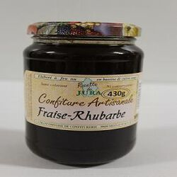 Confiture Fraise/Rhubarbe, Recette du Jura, 430g