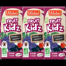 Fruit Kid'z raisin cassis acérola VITABIO, 3x20cl