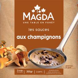 Sauce aux champignons cuisinée surgelée MAGDA, 200g