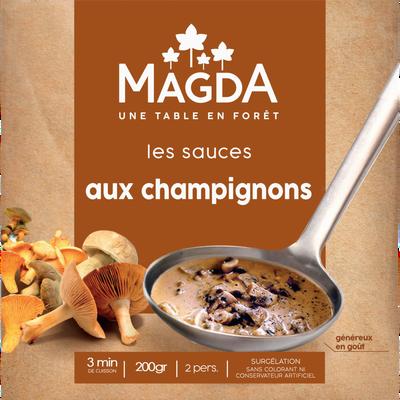 Sauce aux chamoignons cuisinée, surgelée MAGDA 200g