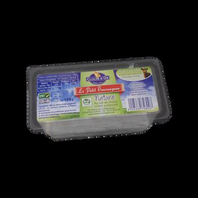 Le petit tourangeau blanc au lait de chèvre entier pasteurisé 14% de MG, CLOCHE D'OR, sous coque 150g