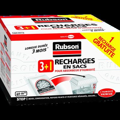 Recharges pour absorbeur d'humidité classique RUBSON, 3 unités + 1 gratuite