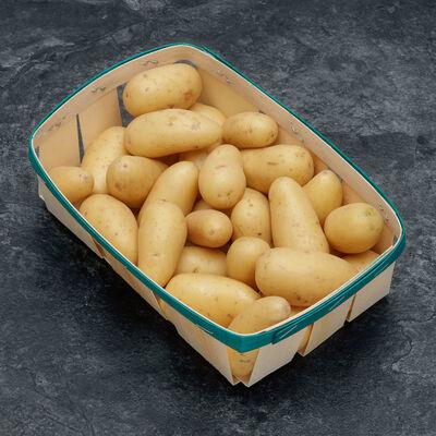 Pomme de terre grenaille, jazzy, de consommation à chair ferme, cal.28/35mm, cat.1, France, barquette 1kg