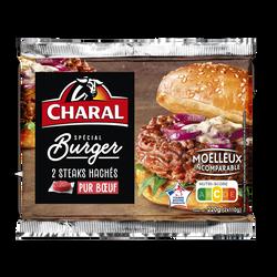 Steak haché spécial burger, CHARAL, France, 2 pièces, étui, 220g