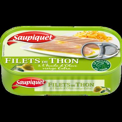 Filets de thon à l'huile d'olive vierge extra, SAUPIQUET, 115g