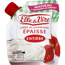 Crème fraîche épaisse entière ELLE&VIRE, 30%MG, 33cl