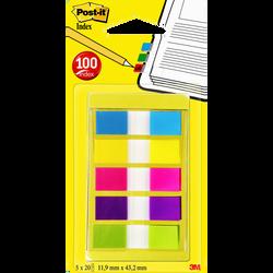 Set de 100 mini-index POST-IT, 5 couleurs