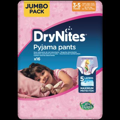 Culottes drynites 3-5 girls disney HUGGIES x16 (16-23kg)
