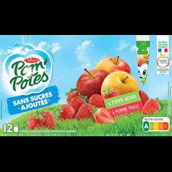 Spécialité de fruit pomme sans sucres ajouté MATERNE, 12x90g